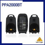 PPA2000BT  /블루투스무선기술,무선마이크로폰옵션, KLARK TEKNIK 멀티-FX 프로세서 & FBQ 피드백 디텍션이 탑재된 울트라 컴팩트 2000W  8채널 포터블 PA시스템
