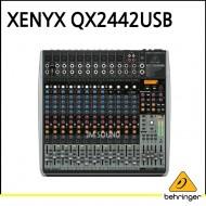 QX2442USB/프리미엄 24입력 4/2버스 믹서, 제닉스 마이크 프리앰프, 컴프레셔, KLARK TEKNIK 멀티 FX 프로세