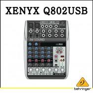 Q802USB,프리미엄 8입력 2버스 믹서, 제닉스 마이크 프리앰프, 컴프레셔, 브리티쉬 EQ와 USB,오디오 인터페이스