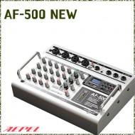 AF-500NEW /초소형파워믹서앰프,채널별펜텀파워,USB,TF,녹음,개별디지털이펙터,EQ,500와트