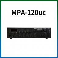 MPA-120UC/USB/SD Card/라디오/카셋트/마이크1,2,3/마이크1뮤트기능/AUX1,2/라인출력/챠임/3회로셀렉터/AC,DC24V겸용/120와트