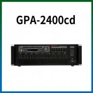 GPA-2400CD/CD/USB/SD Card/라디오/카셋트/마이크1,2,3,4,/마이크1뮤트기능/AUX1,2/라인출력/챠임,싸이렌/펜텀파워/5회로셀렉터/AC,DC24V겸용/240와트