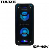 DART/BXP-80W/블루투스/USB/SD Card/AUX/AUX OUT/ LED라이트/충전식/ 버스킹/라이브/색소폰/공연/노래강사/포터블 올인원시스템/출력300W