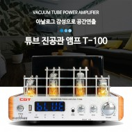 CGT/T-100/진공관앰프/아날로그 감성으로 공간연출/튜진진공관하이파이오디오/USB/블루투스/80와트